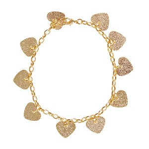 pulseira-coracoezinhos-folheada-dourada